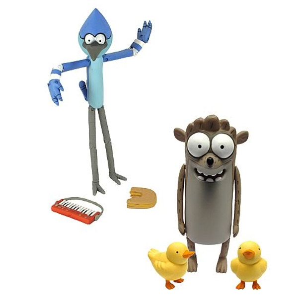 Regular Show 6-Inch Mordecai & Rigby Action Figure set
