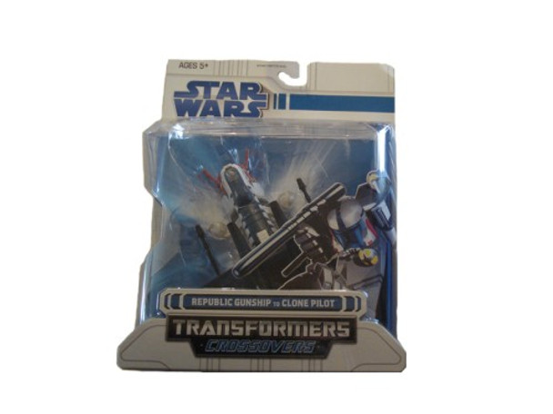 Star Wars Clone Wars Transformers Crossovers Republic Gunship to Clone Pilot