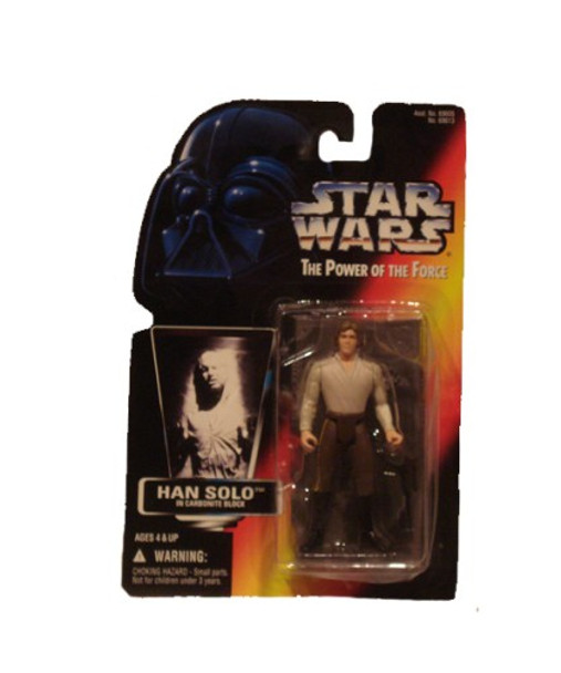 Star Wars Power Of The Force Han Solo in Carbonite Block Action Figure