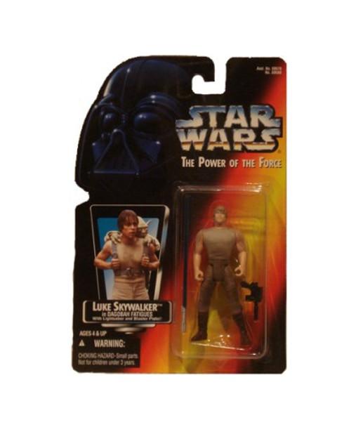 Star Wars Power Of The Force Luke Skywalker in Dagobah Fatigues Action Figure