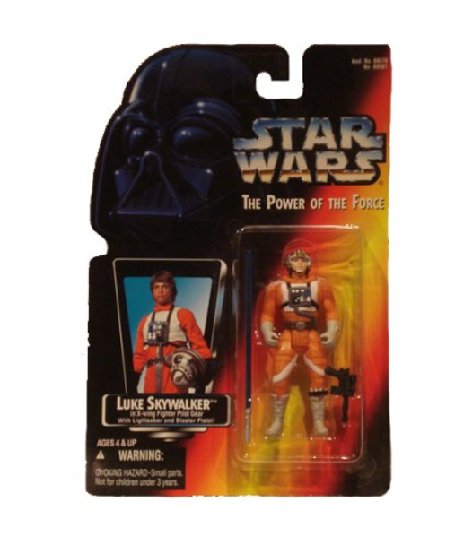 Star Wars Power Of The Force Luke Skywalker in X-Wing Fighter Pilot Gear Action Figure
