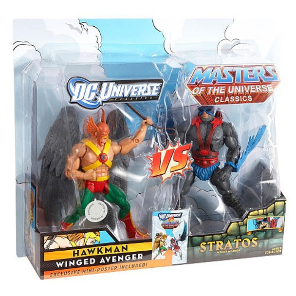 DC Universe vs Master of the Universe 2-Pack Action Figures - Hawkman vs Stratos