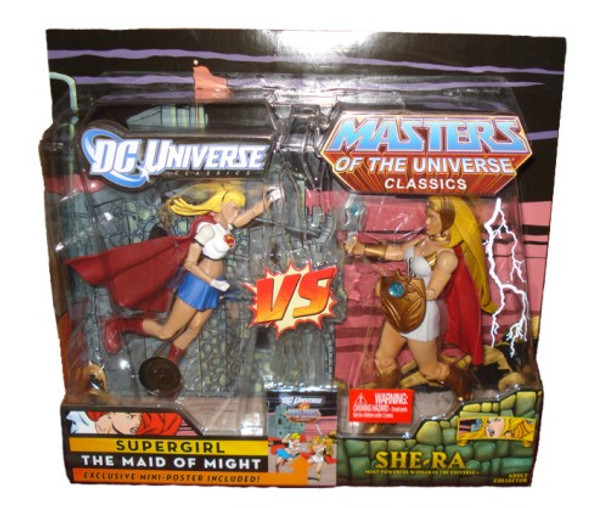 DC Universe vs Master of the Universe 2-Pack Action Figures - Supergirl vs. She-Ra