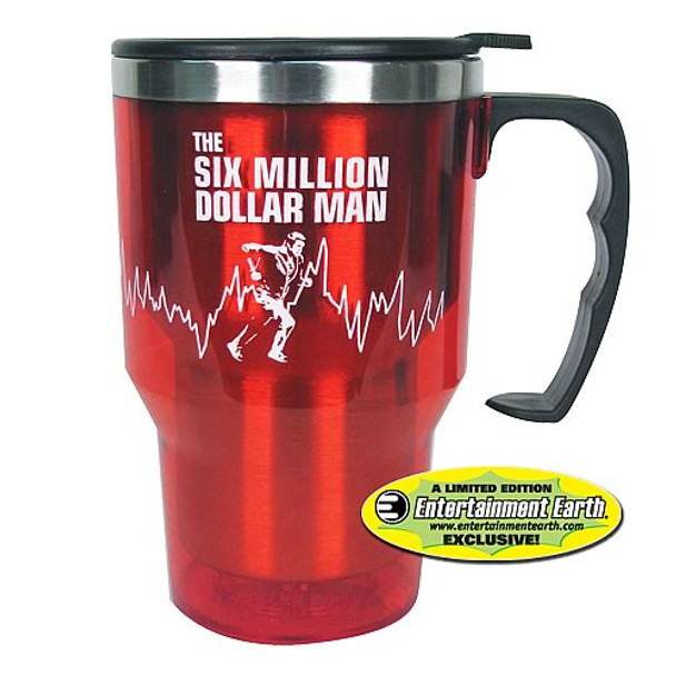 EE Exclusive Six Million Dollar Man 14 oz. Travel Mug