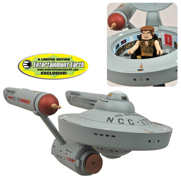 Star Trek EE Entertainment Earth Mirror Mirror Minimates Enterprise Vehicle