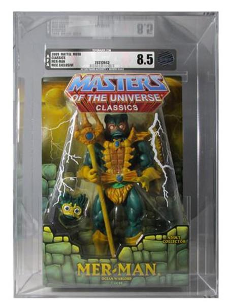 Masters Of The Universe Classics Mer-Man Figure AFA Graded 8.5
