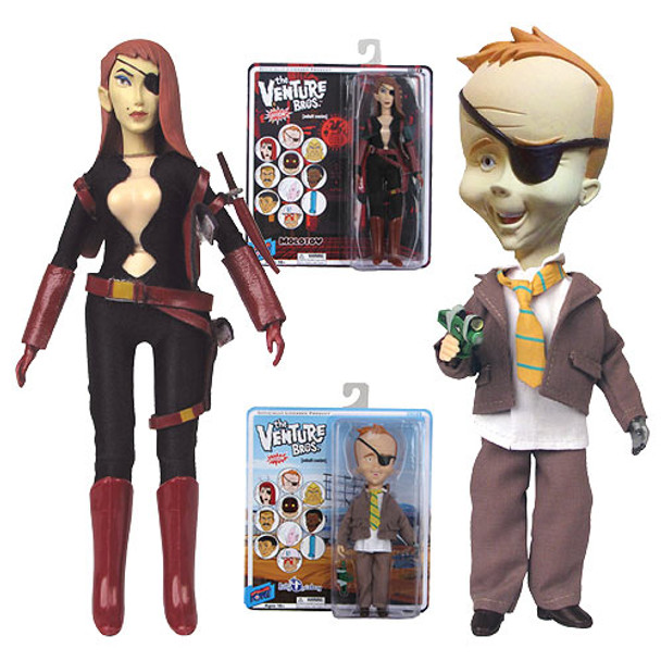 The Venture Bros. Molotov & B. Quizboy Action Figures