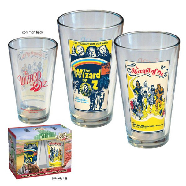 Wizard of Oz Movie Poster Pint Glass 2-pack
