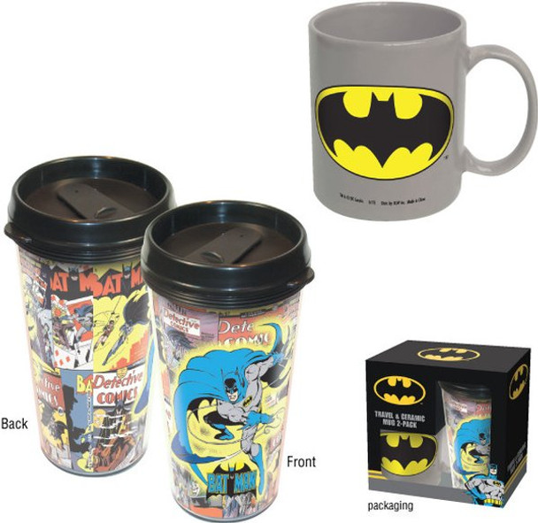 Batman Travel & Ceramic Mug 2-Pack