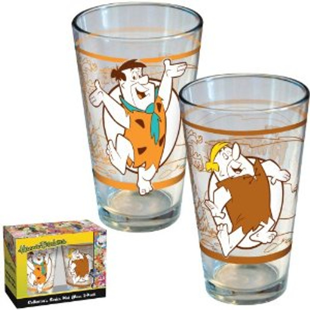 Hanna-Barbera Flintstones Pint Glass 2-pack