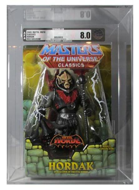 Masters Of The Universe Classics Hordak Figure AFA Graded 8.0