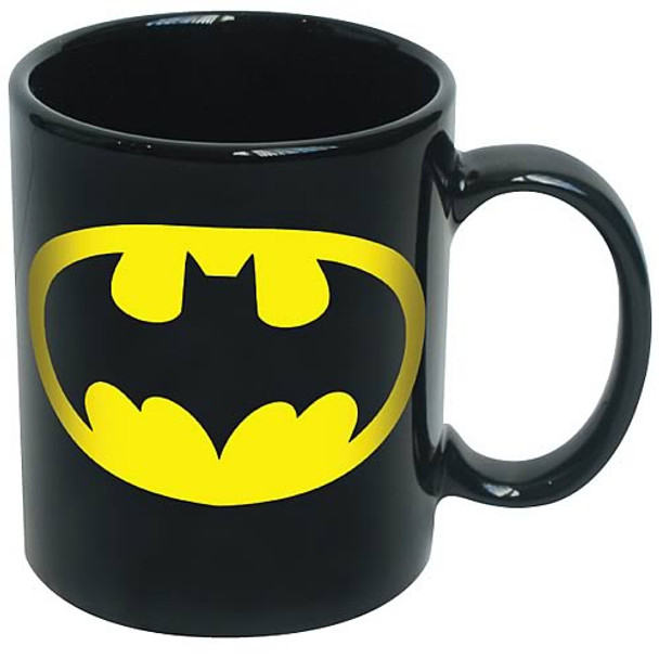 Batman Logo Black Coffee Mug