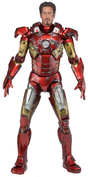 The Avengers Battle Damaged Iron Man Quarter Scale Figure