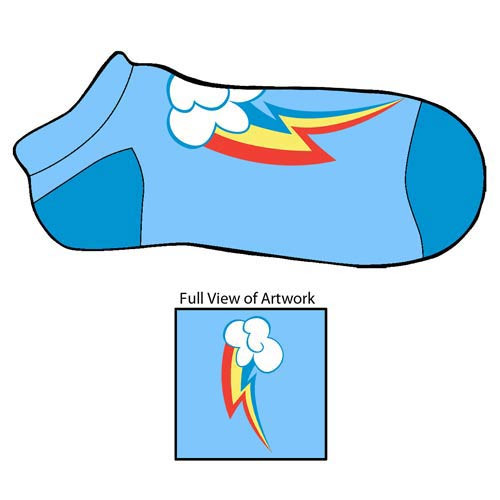 4c3a2b37ce2 My Little Pony Rainbow Dash Cutie Mark Footies Slipper Socks ...