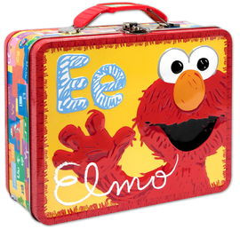 a9ee2946f6f7 Sesame Street Elmo Embossed Carry All Tin Lunch Box