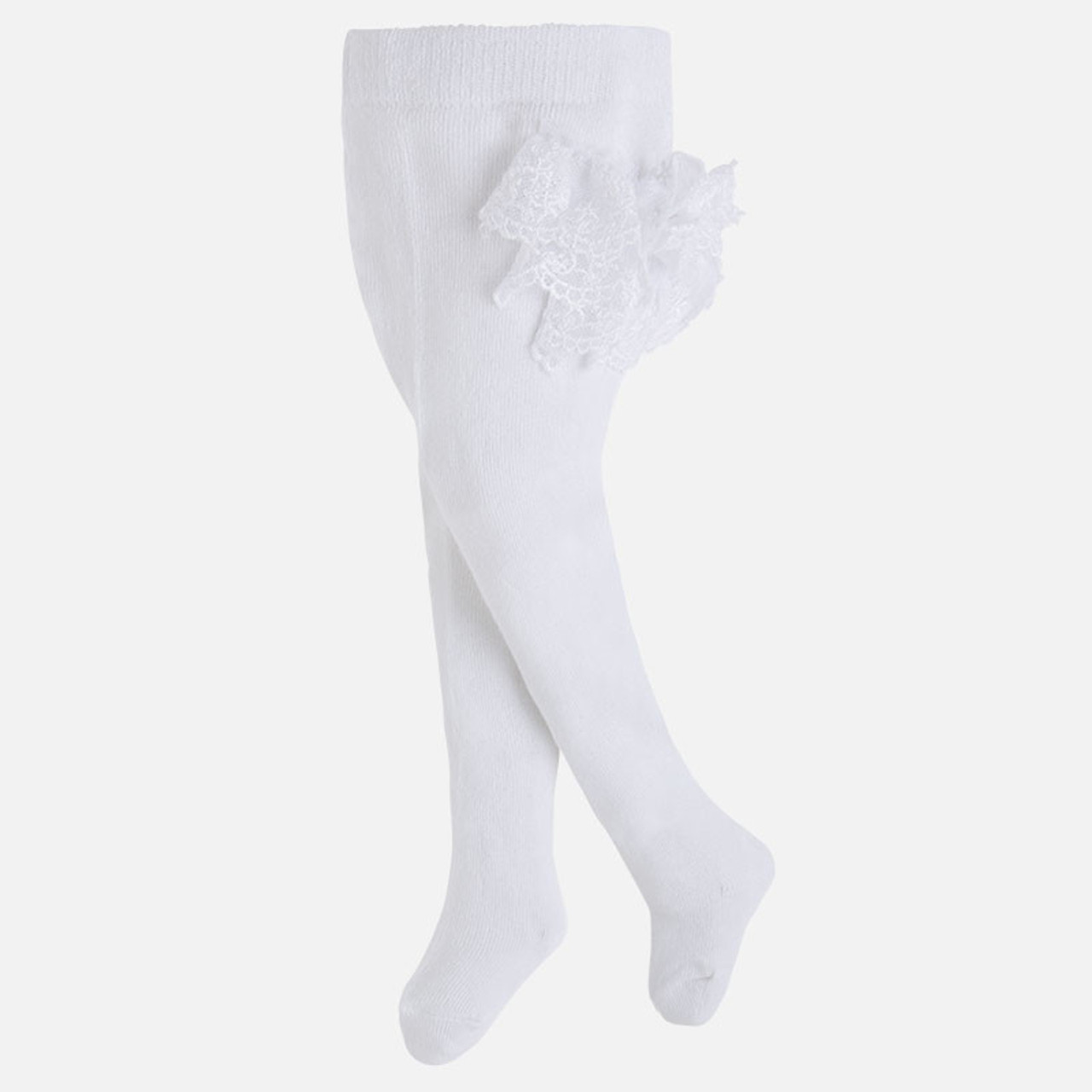 e9ef2c8a77e99 Mayoral Baby Girls Frilly Dress Tights - Natural - Two Birdees