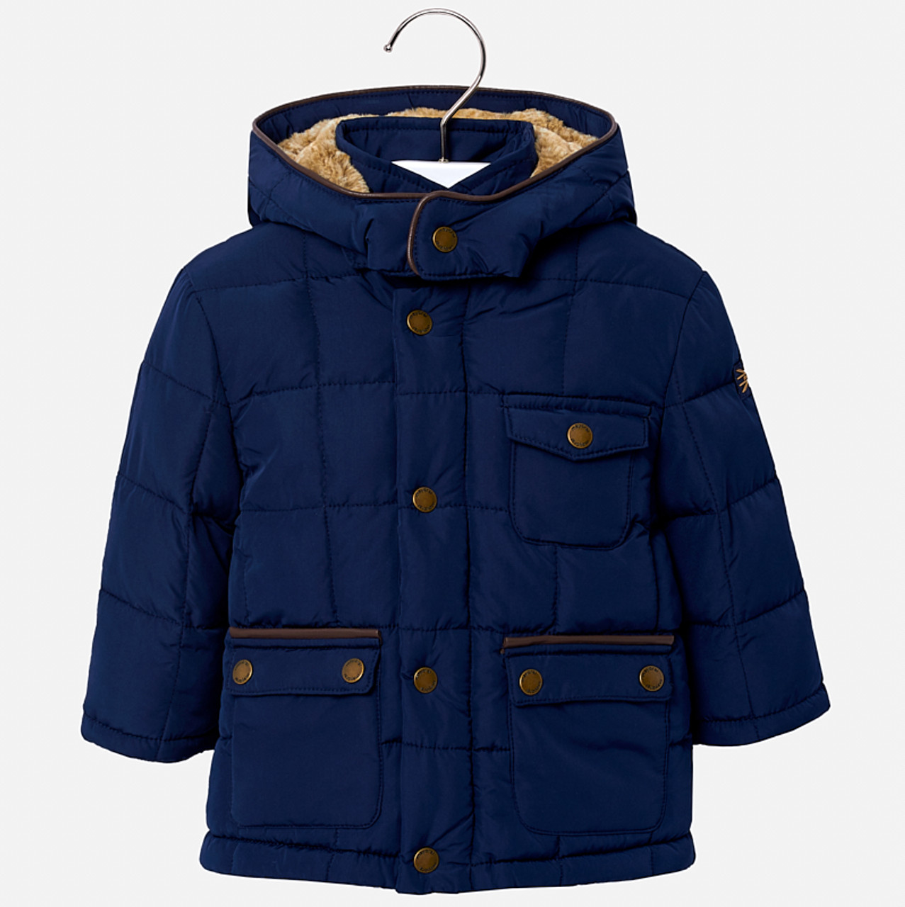 670283156 Mayoral Baby Boys Coat - Navy