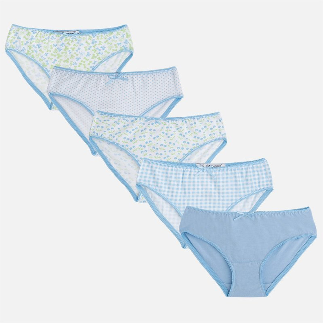 b8e7390267ea9 Mayoral Girls Knickers Set of 5 - Baby Blue - Two Birdees