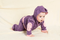 Babysoy - Bamboo/Cotton Blend Fleece Hoodie, Eggplant
