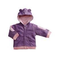 Babysoy - Bamboo/Cotton Blend Fleece Hoodie, Eggplant front