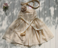 Monroe Halter Tulle Dress in Ivory Petals