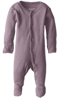 L'ovedbaby 100% Organic Cotton Footed Overall - Lavender