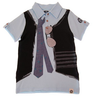 Mini Shatsu Real Tie Short Sleeve Polo front