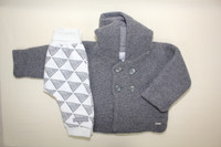 Bellybutton Cardigan with Hood, Wood Knit
