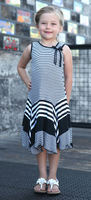 Isobella and Chloe, Zebra A - Line Sleeveless Dress