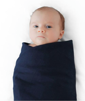 Finn + Emma Muslin Swaddle Blanket Set (Robot Heads/Peacoat Navy)