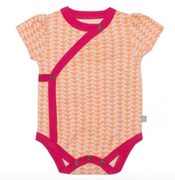 Finn + Emma Short Sleeve Bodysuit, Triangle Print