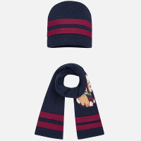 Mayoral Boys Beanie and Scarf Set, Blue