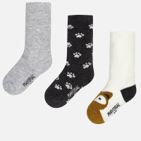 Mayoral Socks Set of 3, Smoke