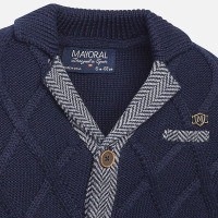 Mayoral Baby Boys Knitted Cardigan, Navy