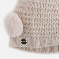 Mayoral Girls Beanie and Scarf Set, Almond