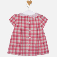 Mayoral Baby Girls Check Dress, Carmine