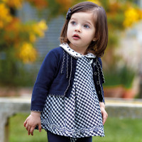 Mayoral Baby Girls Vichy Guingham Dress, Navy