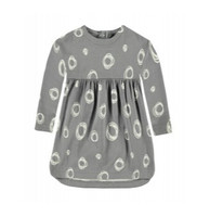 Bellybutton 100% Organic Cotton Sweat Dress, Grey with Circles