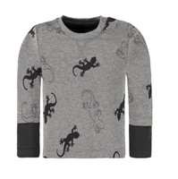 Bellybutton Organic Cotton Long Sleeve T-Shirt, Grey Gecko