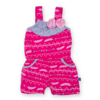 Flower Romper with Pockets, Prickly Pear Southwest