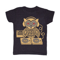 Gnome,  Headphones Owl Tee