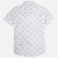 Mayoral Boys Short Sleeve Cotton Shirt, White