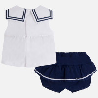 Mayoral Newborn Girls Shorts Set, Navy