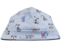Kissy Kissy Sweater Weather Print Hat, Light Blue