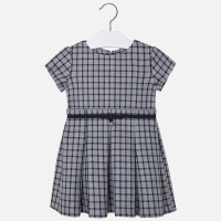 Mayoral Girls Double Faced Check Dress, Navy