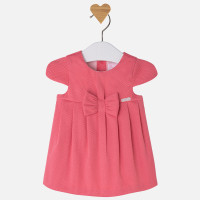 Mayoral Baby girl cotton pique dress, Coral
