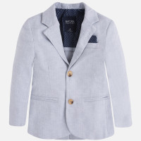 Mayoral Boy linen jacket, Gray