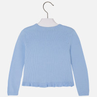 Mayoral Girls Knit Jersey Cardigan, Sky Blue