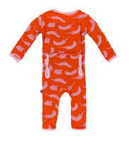 Kickee Pants Print Coverall, Poppy River Otter