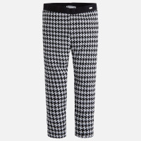 Mayoral Girls Houndstooth Leggings - Anthracite